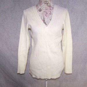 Lane Bryant Sweater Top 14/16 V-Neck Long Sleeves